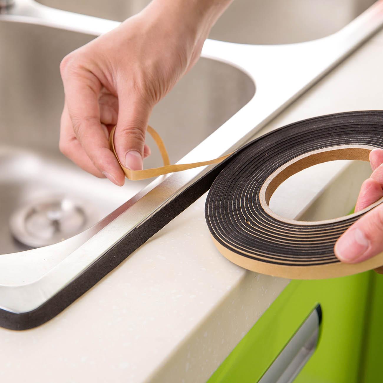 OTHERHOUSE 1Roll Kitchen Waterproof Oilproof Sink Sticker Wash Basin Sealing Tape Adhesive Sealing Strip Window Door Seal