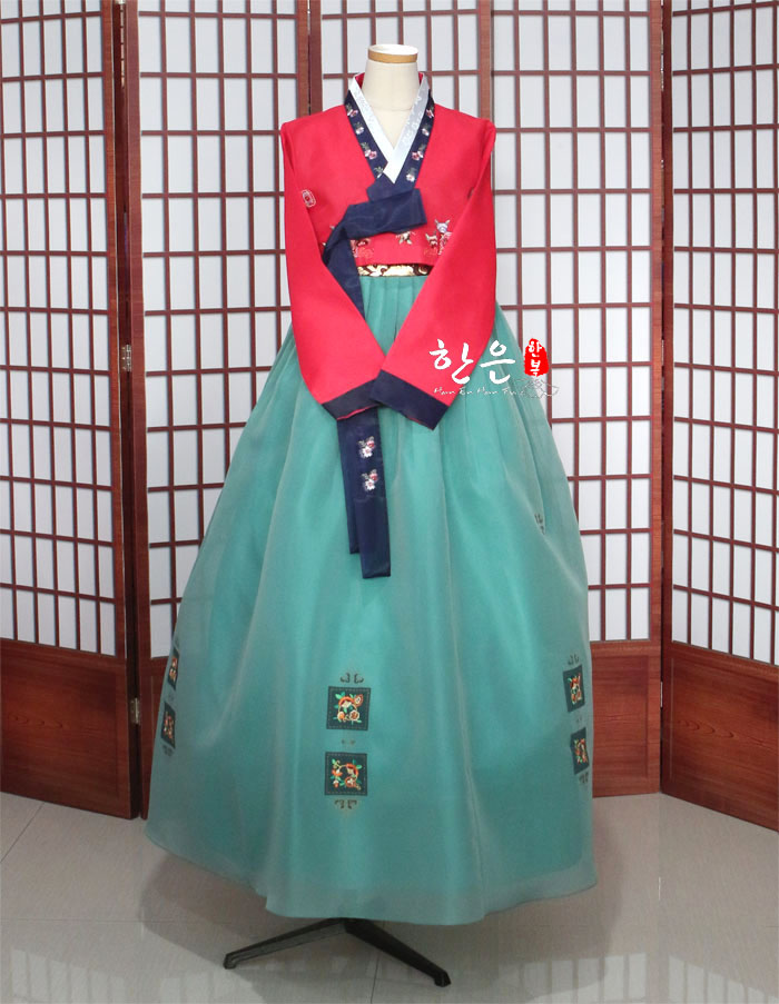 Korea Imported Fabrics / New Improved Hanbok / Stage Hanbok / / To Dry Clean