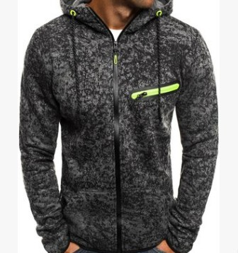 Men Sports Casual Wear Zipper  Fashion Tide Jacquard Hoodies Fleece Jacket Fall Men's Sweatshirts Autumn Winter Coat M-3XL