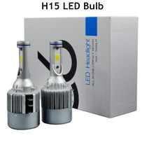 2 bombillas Car Xenon White H15 LED Bulbs For Volkswagen Audi BMW Mercedes For both the Daytime Running Lights n high beam mode(China)