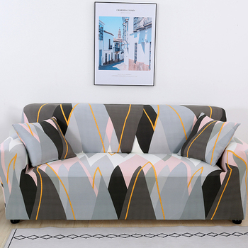 Sofa Covers for Living Room Modern Floral Printed Stretch Sectional Slipcover Polyester L Shape Armchair Couch Case 1/2/3/4 Seat 21
