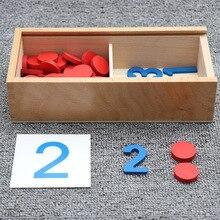 Giocattolo per bambini Montessori in legno carte cognitivi conteggio dei numeri gioco di matematica giocattolo educativo per bambini formazione prescolare della prima infanzia