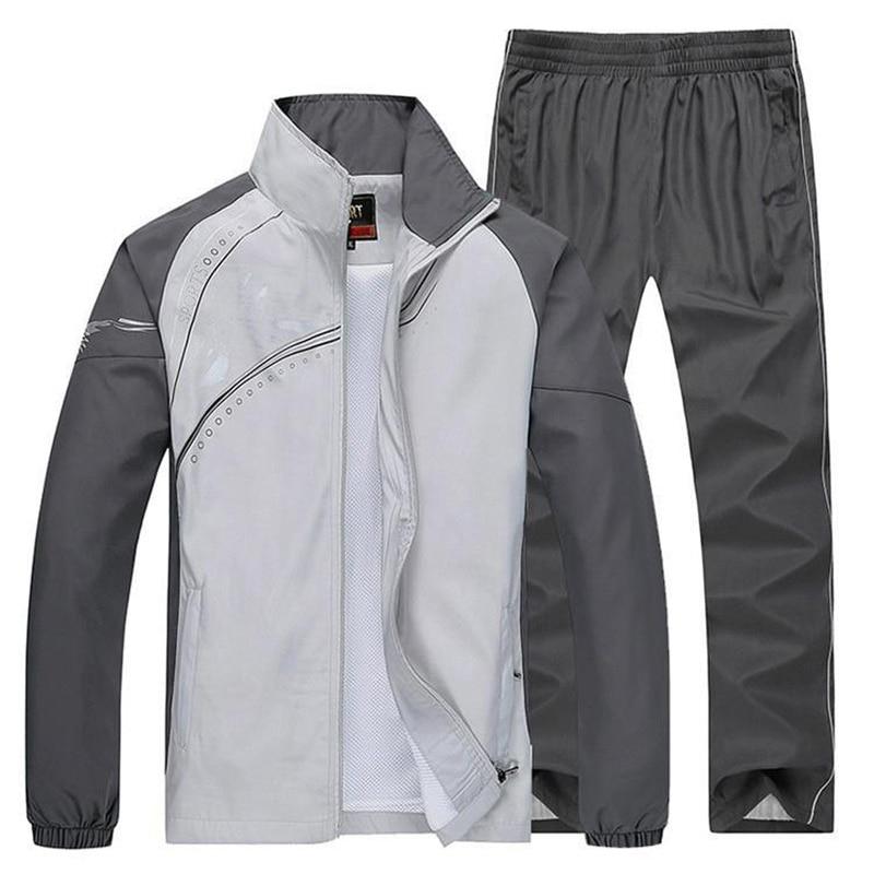 New 2020 Plus Size L~5XL Mens Sportsuits Spring Autumn Hoodies&Sweatshirts Men Printed Tracksuits Men`s Sportwear Set