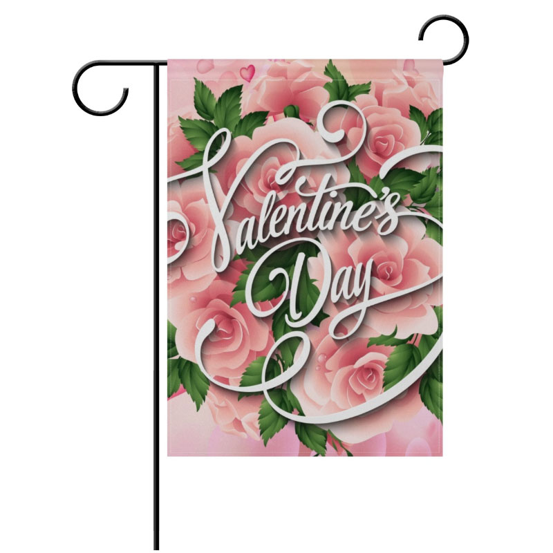 Sublimatin Polyester Fiber Blank Garden Consumables For Valentine's Day Easter  Day Hot Transfer Printing Consumables 30*45cm