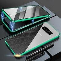 Funda protectora 360 magnética de doble cara para Samsung M51, A51, A71, A41, A50, A70, M31, S20FE, S10, S9, S8, Note20, cubierta de Metal de vidrio templado