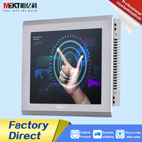 10/10.4 inch usb touch screen lcd monitor/Industrial Embedded Multi touch display HDMI DVI USB VGA panel waterproof