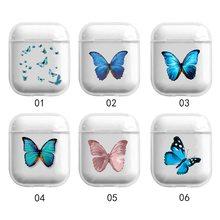 Модный красивый чехол с бабочками для airpods 1 2 милыми мультяшными