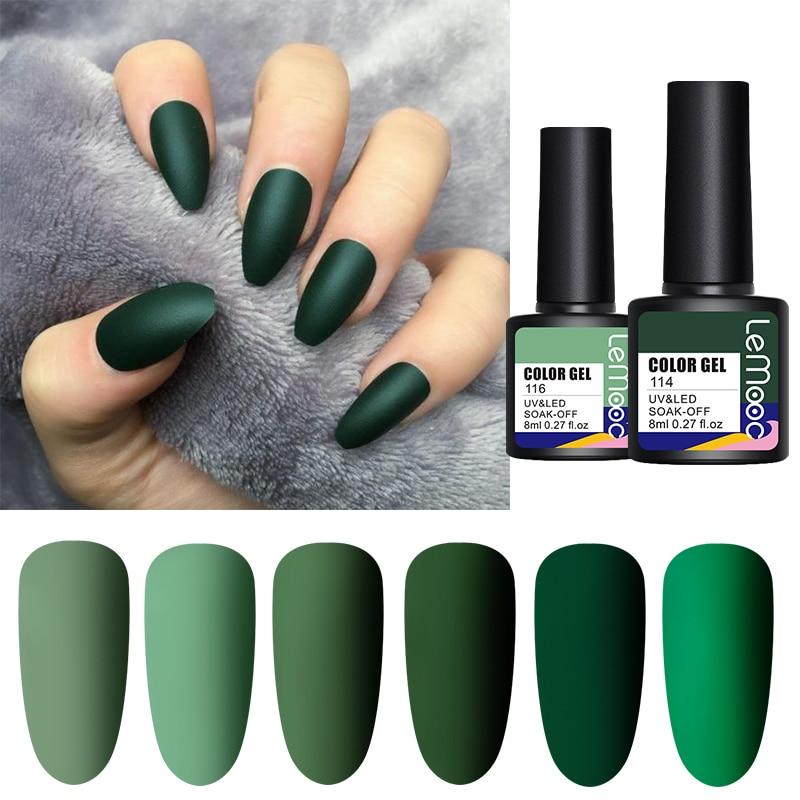 Гель-лак для ногтей LEMOOC, популярный осенний лак, цветной УФ-светодиодный гель для ногтевого дизайна, базовое матовое верхнее покрытие, гель-...