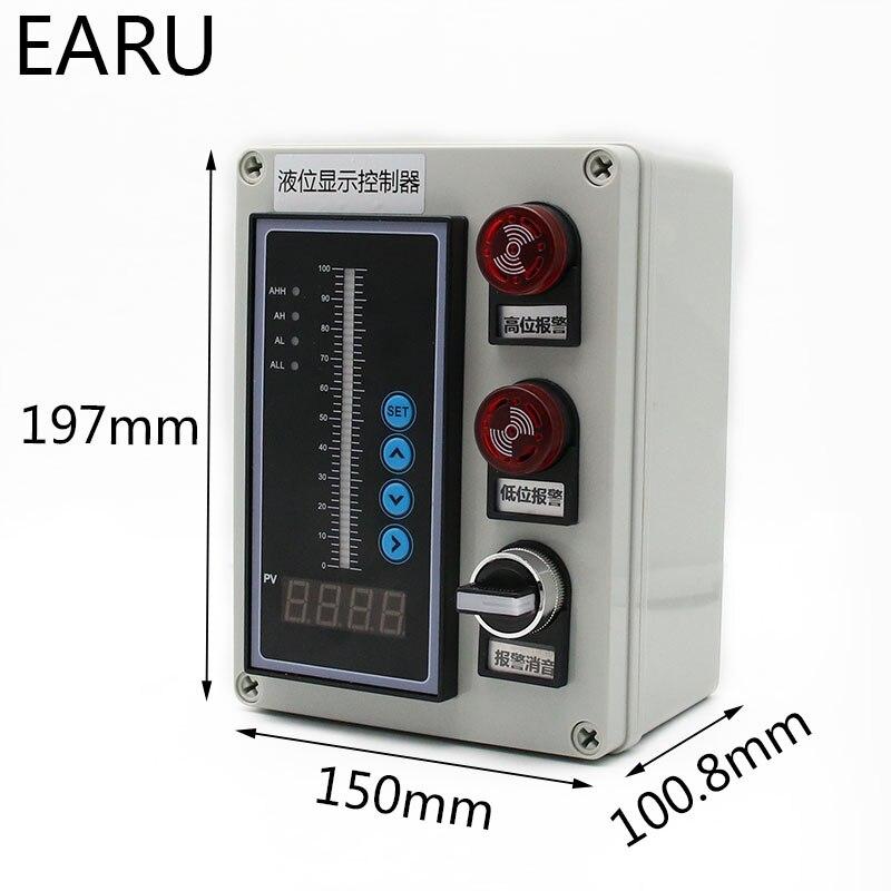 1 ensemble 4-20MA sortie huile liquide intégrale capteur de niveau d'eau transmetteur détecter contrôleur flotteur interrupteur étanche montage boîte pompe - 2