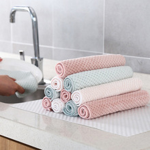 Очищающая ткань без масла водопоглощающая кухонная Коралловая бархатная Влажная и сухая двойного назначения плотная ткань для очистки ca zhuo bu Clea