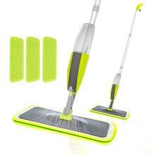 Balai serpillière à Spray VIP magique, serpillière plate pour parquet, outil de nettoyage domestique avec tampons en microfibre réutilisables, serpillière paresseuse