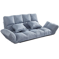 Floor Sofa Bed With 2 Pillows 5 Position Adjustable Lazy Sofa Japanese Style Furniture Living Room Reclining Folding Sofa Couch