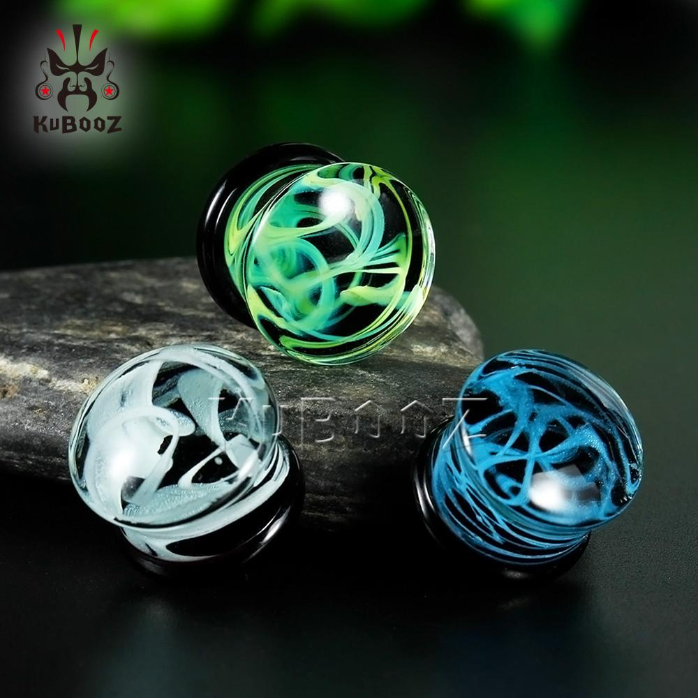 Grainy Stone Ear Gagues Stretchers Flesh Body Jewelry Earring Expanders Fashion Gift For Women Men Glass Piercing Tunnels