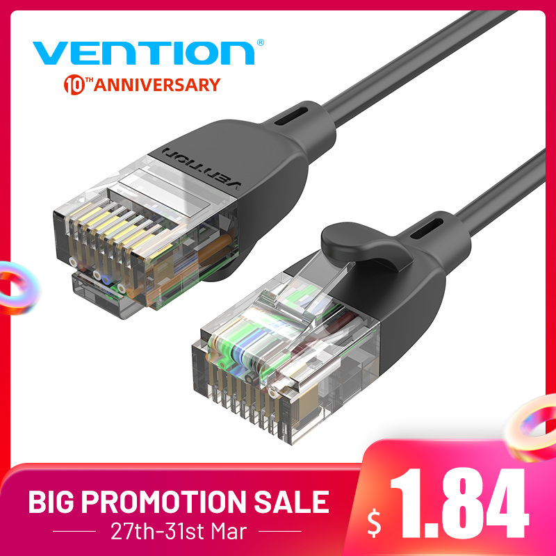 Vention Cat6A Ethernet Cable 10Gbps Lan Cable UTP RJ 45 Slim Ethernet Patch Cable  Compatible Patch Cord For Modem Router