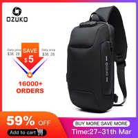 OZUKO 2019 nouveau sac à bandoulière multifonction pour hommes Anti-vol épaule sacs de messager mâle étanche court voyage poitrine sac Pack