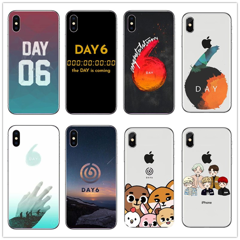 <font><b>KPOP</b></font> ASTRO B.A.P Day6 <font><b>Case</b></font> for <font><b>iPhone</b></font> XS Max XR X 8 7 6 6S Plus 5 5S SE DAY6 Men's band black Soft silicon Phone <font><b>Case</b></font> image