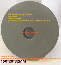 Rueda de pulido paralelo 150x20mm 180 2000 granos PVA, esponja para rueda de goma, espejo con forma de rueda, pulido en seco, envío gratis