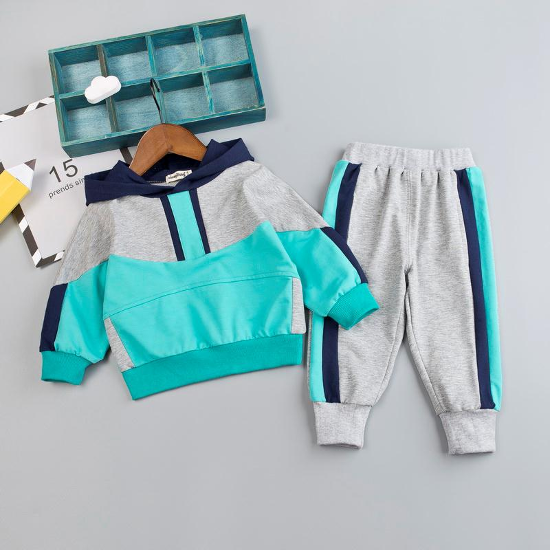 Kid Boy Clothes Set For Girl Casual Sportswear 2019 Fashion Patchwork Baby Boy T Shirt + Pants 1 2 3 4Y-in Clothing Sets from Mother & Kids