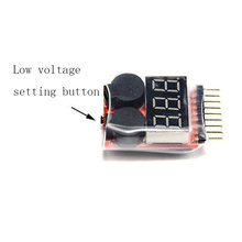 1-8S LED Lipo Batterij Monitor Voltage Indicator Checker Tester Low Voltage Buzzer Alarm voor Lipo Li-Ion LiMn li-Fe Batterij SP99(China)