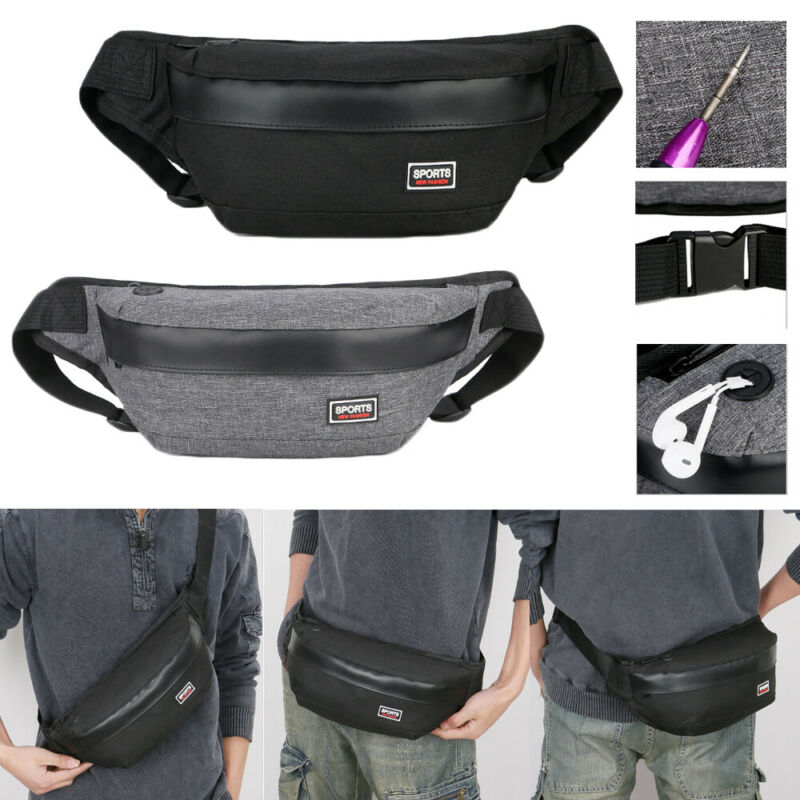 Anti-Theft Men Chest Bag Waist Pack Messenger Sling Bag Casual Shoulder Small Crossbody Bags  /BY