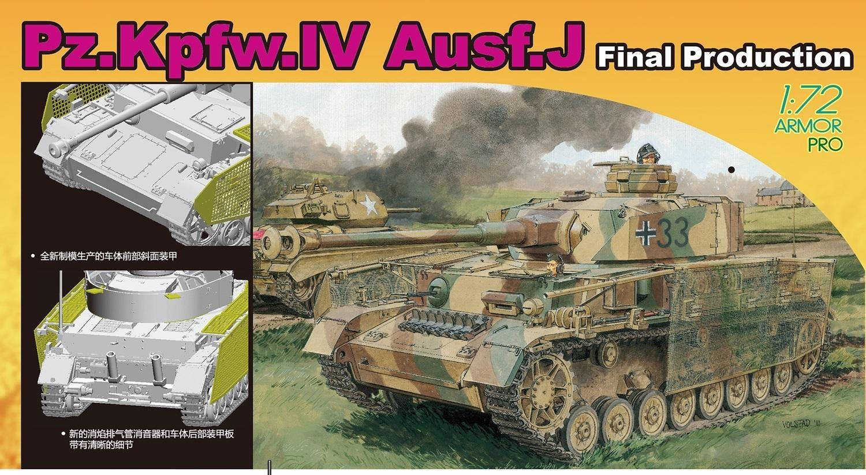 DRAGON 7629 1:72 Pz.Kpfw.IV Ausf.J комплект окончательной модели производства