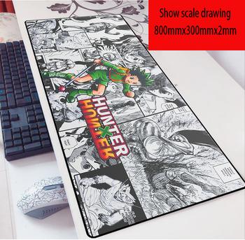 Anime hunter x Hunter podkładka pod mysz 80X30 gra 2mm podkładka pod mysz ponadgabarytowa klawiatura laptopa podkładka mata na stół do grania w gry tanie i dobre opinie OLPAY CN (pochodzenie) RUBBER Dostępny w magazynie 800x300 Other Other 800x300mm