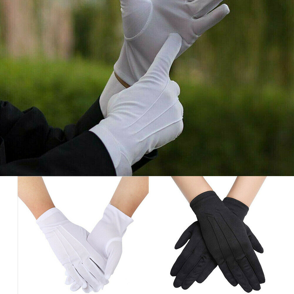 Imcute High Quality HOT Selling Functional 1 Pair Cotton Gloves Khan Cloth Quality Check Solid Gloves Rituals Play White Gloves
