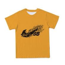 Новые летние 3d Мужская/Женская/Детская Однотонная футболка