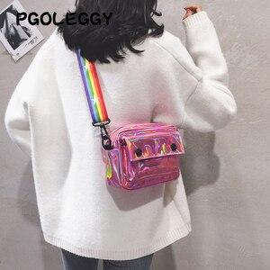 Image 3 - PGOLEGGY lazer kadınlar için Crossbody çanta 2019 moda çanta lüks kadın PU deri omuz çantaları seyahat için su geçirmez çanta