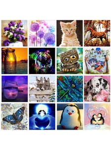 Diamond Painting Semi-Finished-Product Animal Handmade Diy 5d Full Embroidery Circle