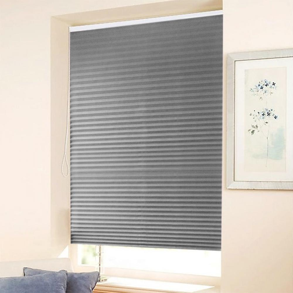 Self-Adhesive Pleated Blinds Half Blackout Windows Curtains For Bathroom Kitchen Balcony Shades Living Room Home Window Curtain