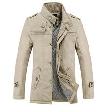 Autumn Winter New Men's Fashion Jacket Coat Man Long Sleeve Slim Fit Warm Wadded Jacket Outerwear Male Plus Size M-4XL Overcoat
