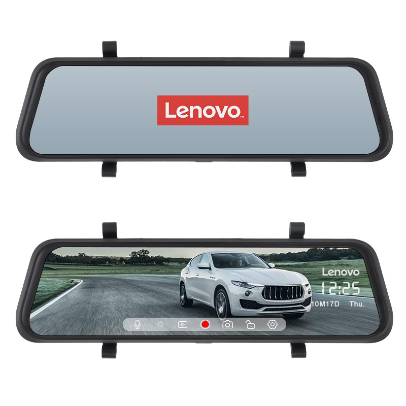 10'' Original Lenovo Streaming Media Car DVR Rear View Mirror With 16GB TF Card Dash Cam HD IPS Touch Screen Night Vision Camera - 3