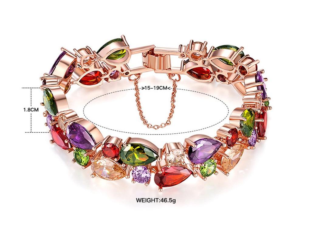 bracelet Women's bracelet amber ladies Amethyst bracelet gemstone yellow crystal Colorful zircon rose quartz  rose gold BR0001