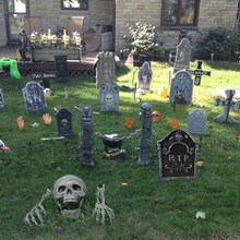 Halloween dekoracja czaszka Horror nawiedzony wystrój domu Halloween do odmu wystrój ogrodu cmentarz Haloween sztuczka rekwizyty dzieci