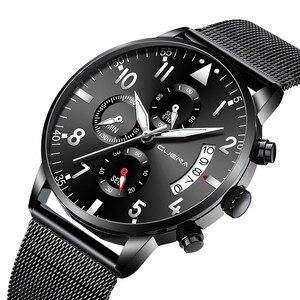 Saatleri 2019 Men Stainless Steel Watch Luxury Casual Business Watch Men's Analog Quartz Wrist Watches Mens Gentleman Black Wach(China)