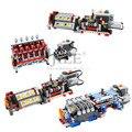 Moc Technologie Mechanische Gruppe V16 Motor Geschwindigkeiten Sequentielle Getriebe Modell DIY Bausteine Ziegel Kompatibel mit Prower Set
