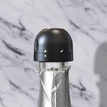 Mais novo silicone selado rolha de garrafa de vinho de champanhe rolha de garrafa de vinho selado mini comida-grau abs espumante garrafa de champanhe rolha