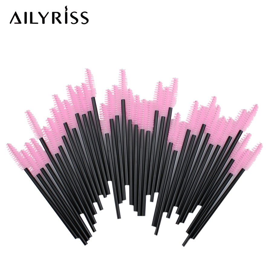 Makeup Brushes 25/50pcs Disposal Mascara Wands Applicator Eyelash Cleaning Comb Makeup Brushes For Eyelash Extensions AILYRISS