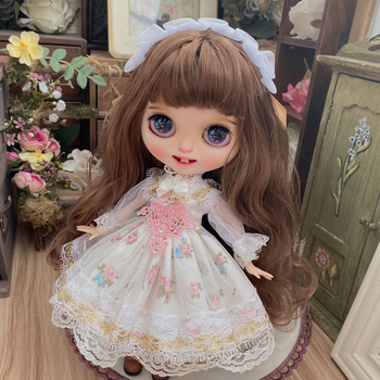Modikerbjd Custom Ball Joints Doll Clothes Plaid Cute Dress Skirt for Blyth  Accessories - No