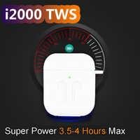 I2000 TWS en la oreja Sensor inteligente auricular inalámbrico 8D Super sonido auriculares Pop up Bluetooth 5,0 auriculares Pk i100 i200 i800 TWS