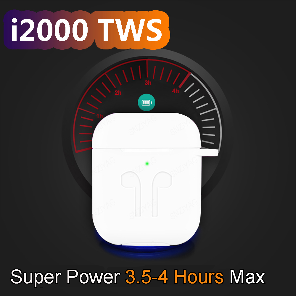 i2000 TWS In ear Smart Sensor Wireless Earphone 8D Super Sound Earbuds Pop up Bluetooth 5.0 Earphones Pk i100 i200 i800 TWS