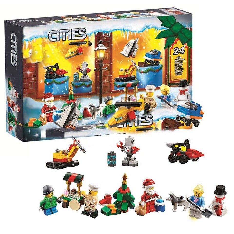 342pcs Christmas DIY Advent Calendar 11012 Model Building Blocks Toys Bricks Compatible Legoinglys Christmas Gift