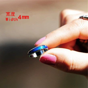 4MM Width Classic Temperature Change Color Mood Ring Hot Sale Jewelry Smart Discolor Rings Best Gift For Friends Free Shipping 2