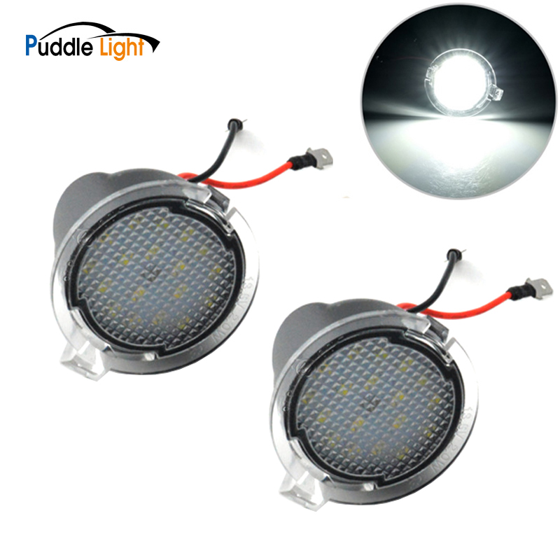 Side <font><b>Mirror</b></font> Puddle Lights For <font><b>Ford</b></font> Edge Fusion Flex <font><b>Explorer</b></font> Mondeo Taurus F-150 Expedition Raptor Range Super Bright Auto Lamp image