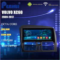8.8 Android8.1 4GB RAM+64GB ROM Car Multimedia System for XC60 2009 2017 with navigation free map support obd2