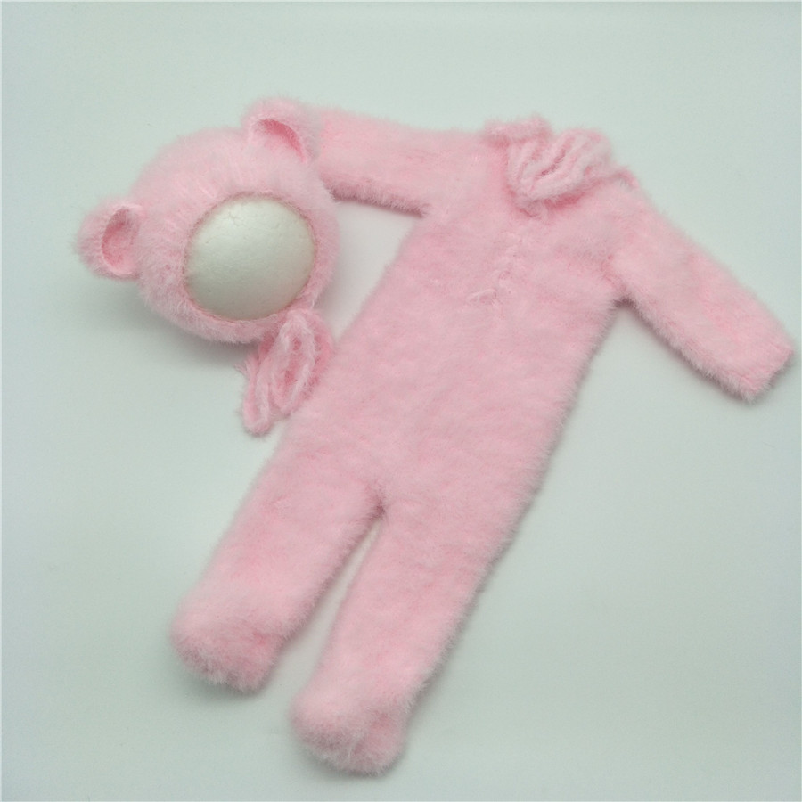 Newborn Furry Bear Outfit Newborn Footed Romper Newborn Photo Prop  Newborn Bear Hooded Onesie