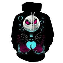 De Nightmare Before Christmas Jack Schedel Cosplay Hoodie Mannen Vrouwen Mode Hooded Sweatshirt Halloween Kostuums Tops
