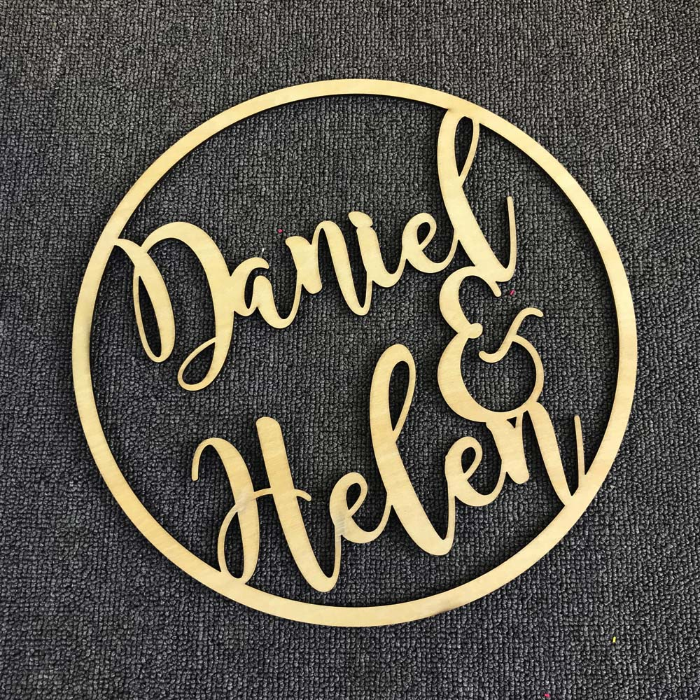 Personalized Wedding Sign Hoop Style Name Wooden decor,Reception Decor,wedding sign Hoop,Photo Prop Wall Sign For Bride & Groom (3)