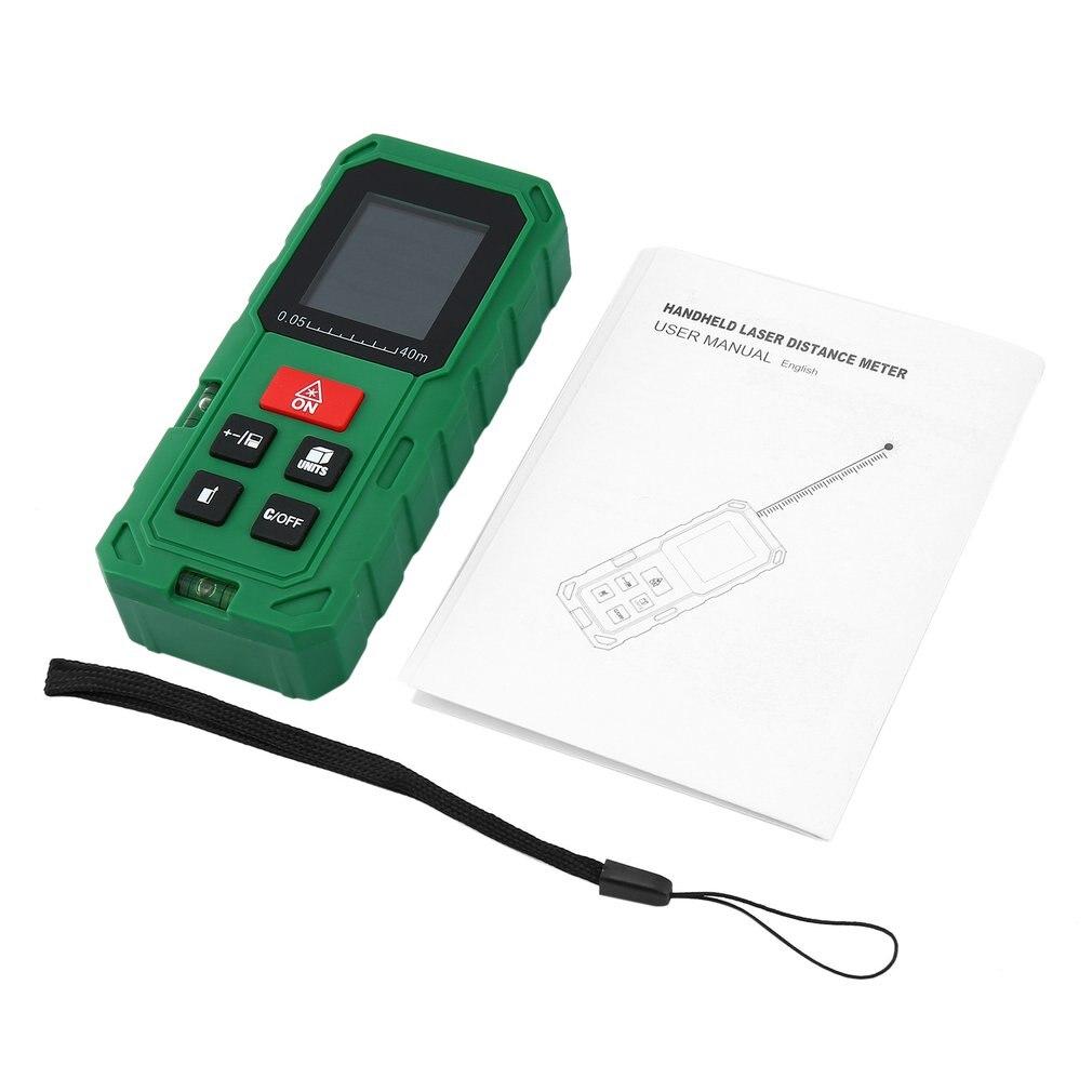 Handheld Laser Distance Meter Portable Digital Laser Range Finder With LCD Backlight Display Professional Measurement Tool